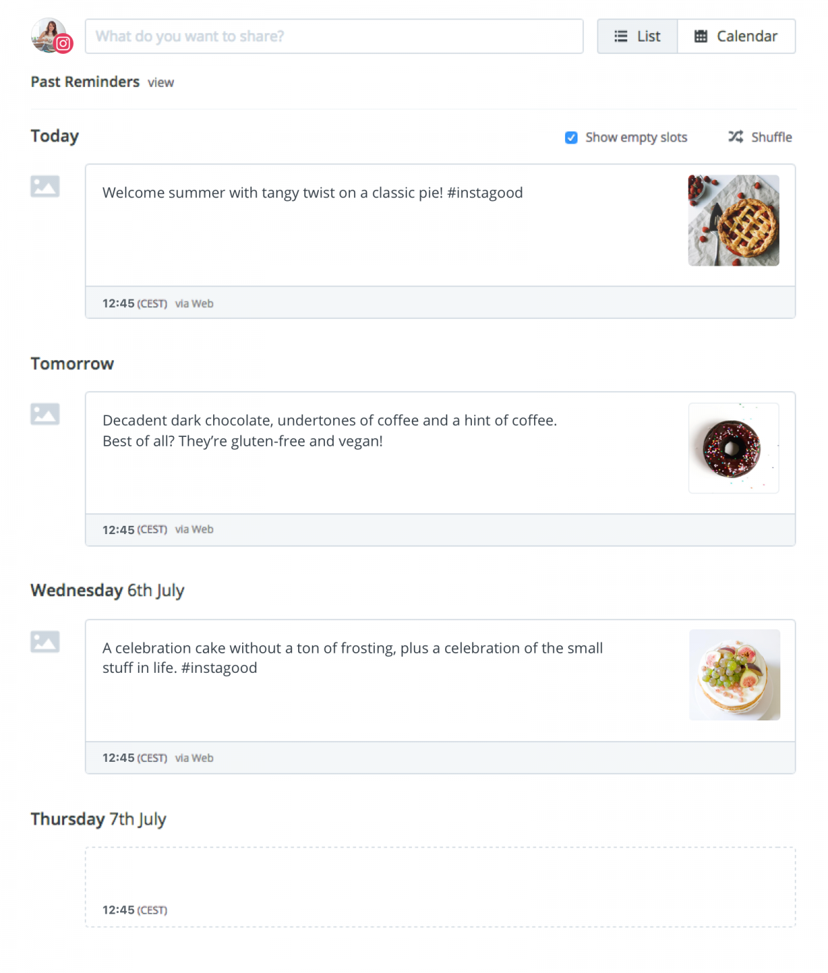 Buffer implementa la possibilità di programmare la pubblicazione di immagini su Instagram